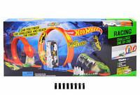 "Трек с горками ""Hot Wheel"" (2 маш. метал-пластик, коробка) 6763 р.75*37*6,5 см."