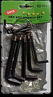 Ключі шестигранні 10 шт (брелок)