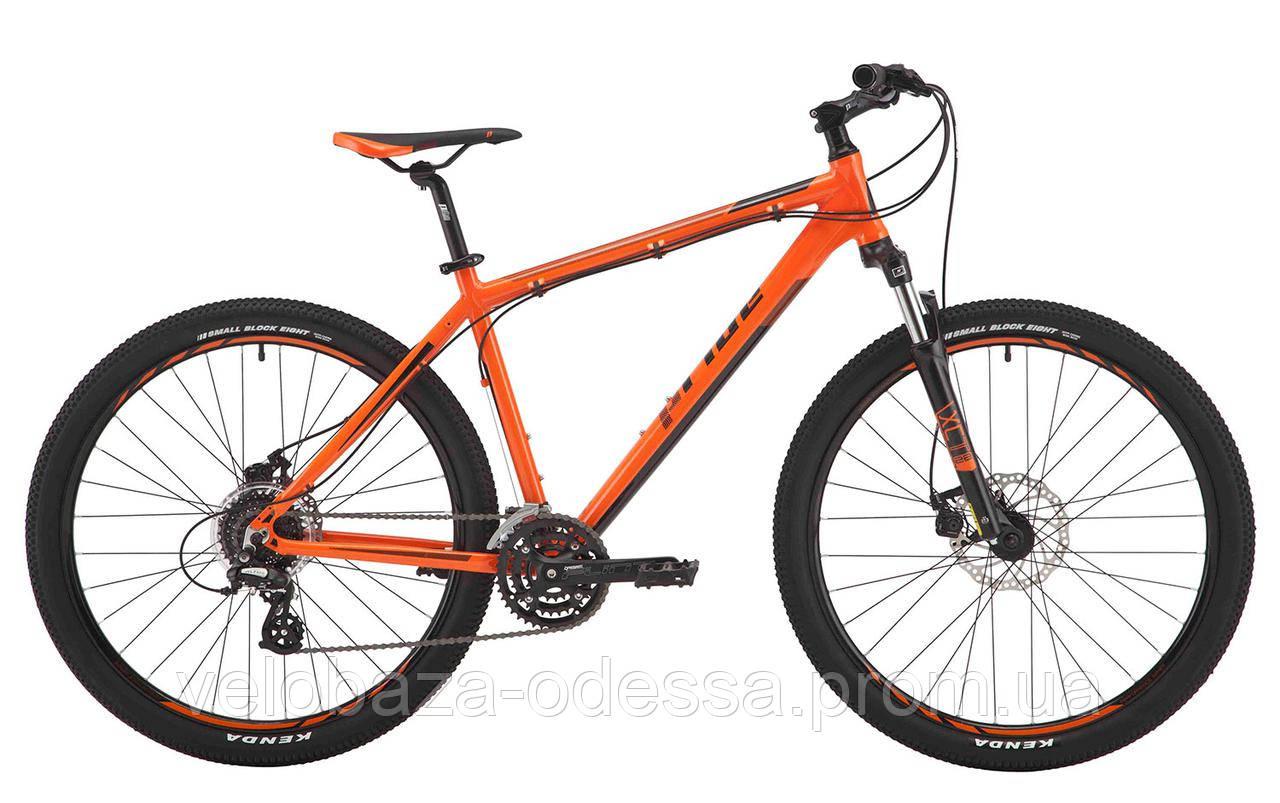 """Велосипед 27,5"""" Pride Rebel 7.2 рама - 19"""" оранжевый/тёмно-красный/черный 2017"""
