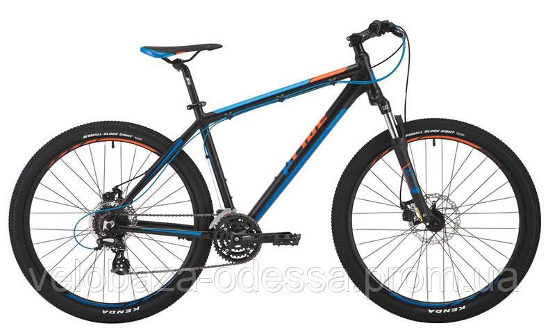 """Велосипед 27,5"""" Pride Rebel 7.2 рама - 21"""" черный/голубой/оранжевый 2017, фото 2"""