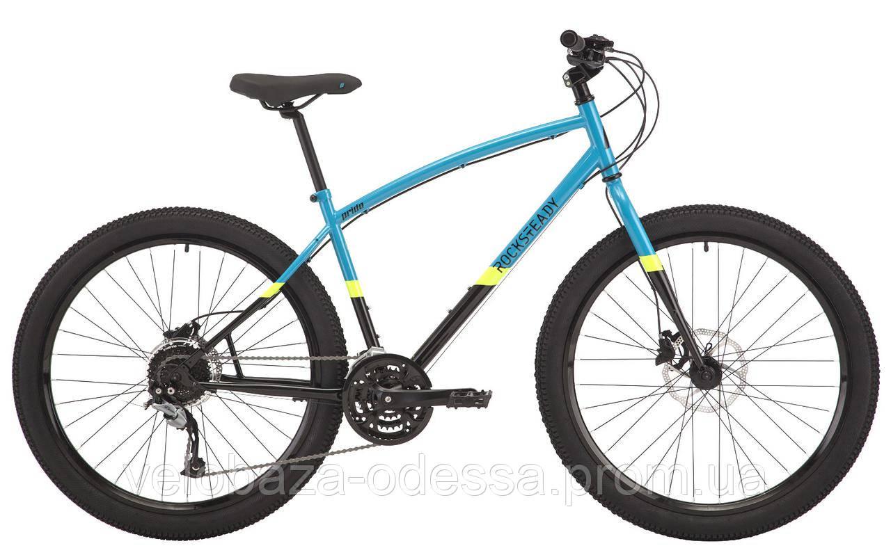 "Велосипед 27,5"" Pride Rocksteady 7.2 рама - L голубой/черный 2018"