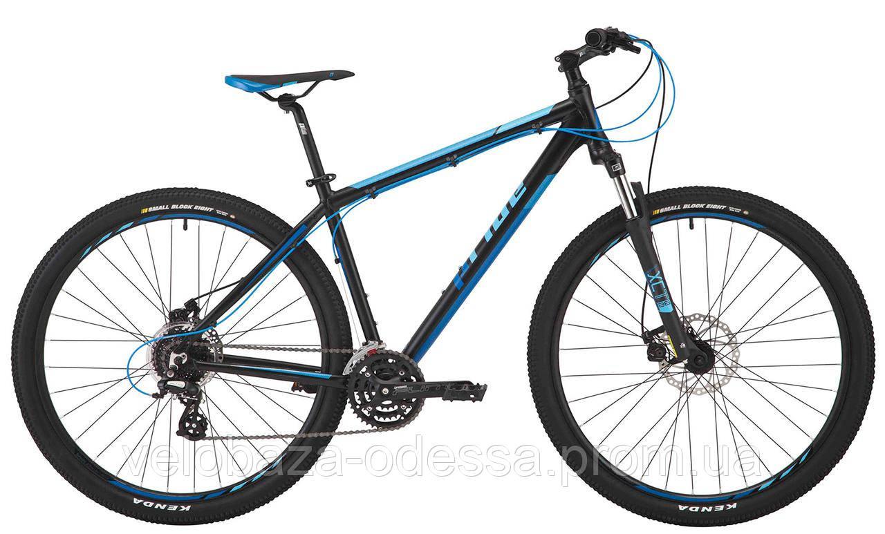 """Велосипед 29"""" Pride Rebel 9.2 рама - 17"""" черный/синий/голубой 2017"""