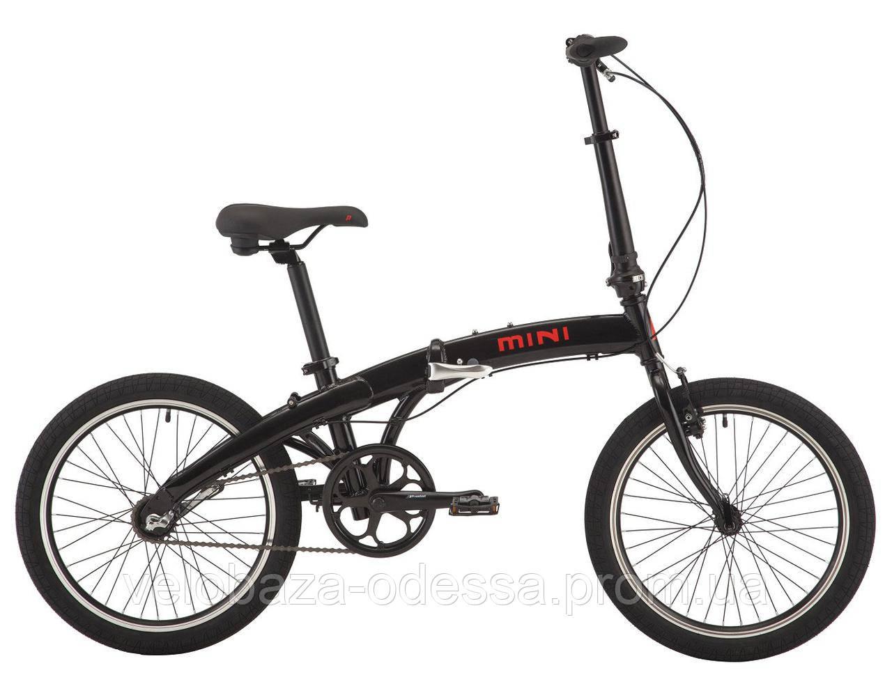 """Велосипед 20"""" Pride MINI 3 черный/ярко-красный 2018"""