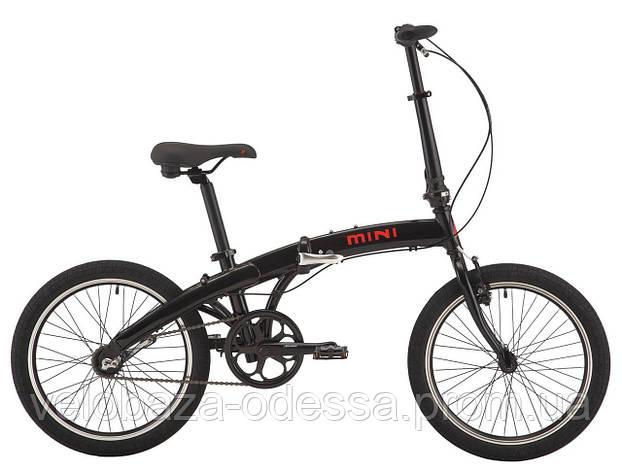 """Велосипед 20"""" Pride MINI 3 черный/ярко-красный 2018, фото 2"""