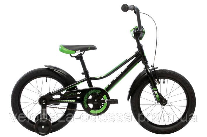 """Велосипед 16"""" Pride Flash черный/зеленый/белый 2018, фото 2"""