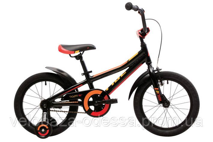 """Велосипед 16"""" Pride Tiger черный/красный/жёлтый 2018, фото 2"""