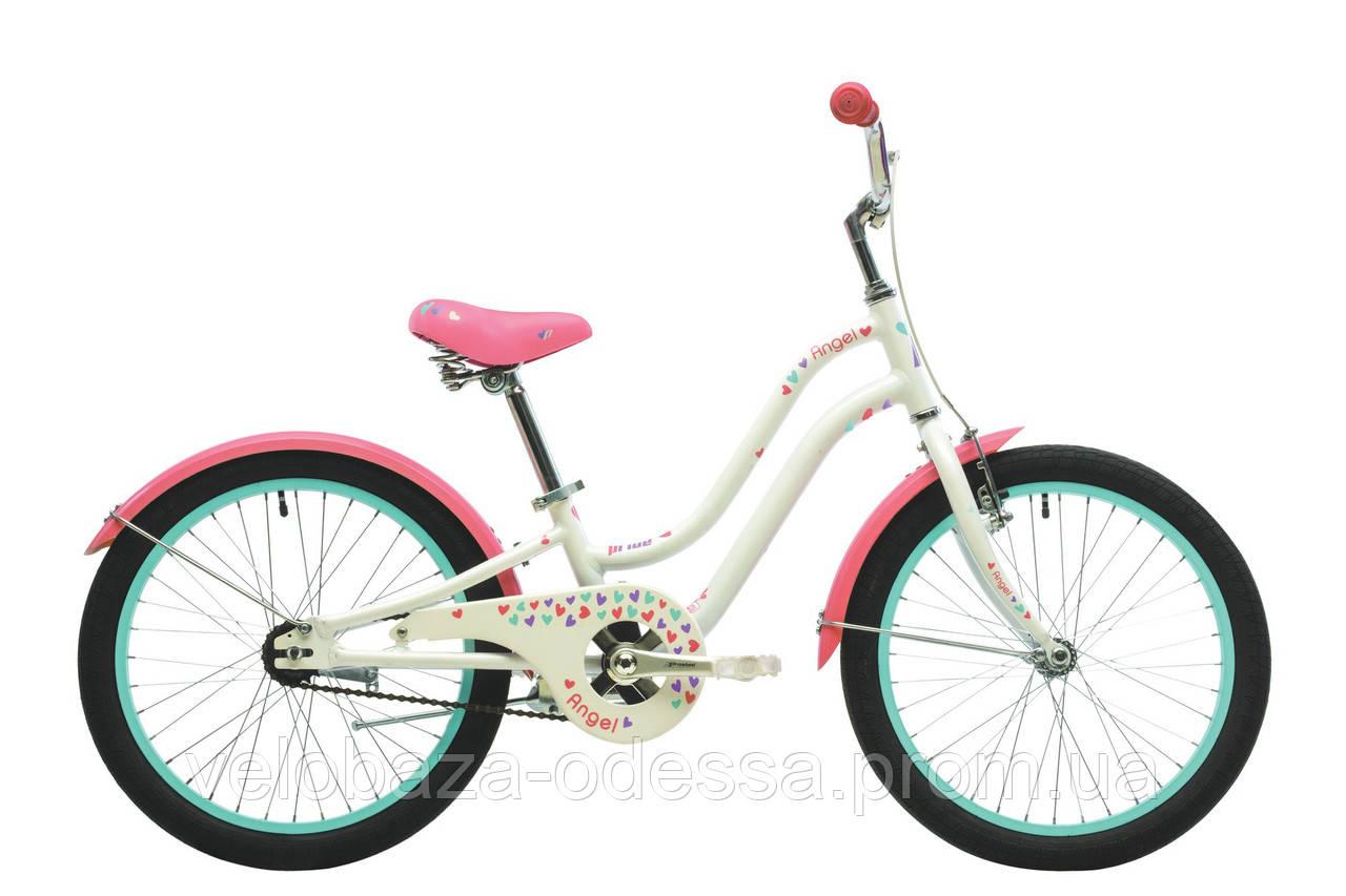 """Велосипед 20"""" Pride Angel белый/розовый 2018"""