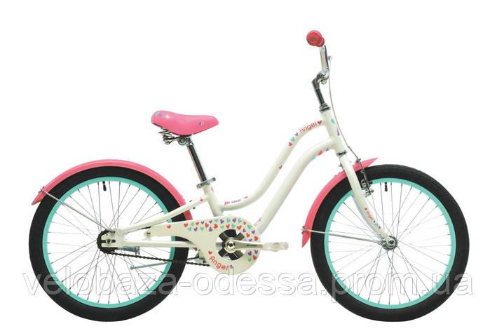 """Велосипед 20"""" Pride Angel белый/розовый 2018, фото 2"""