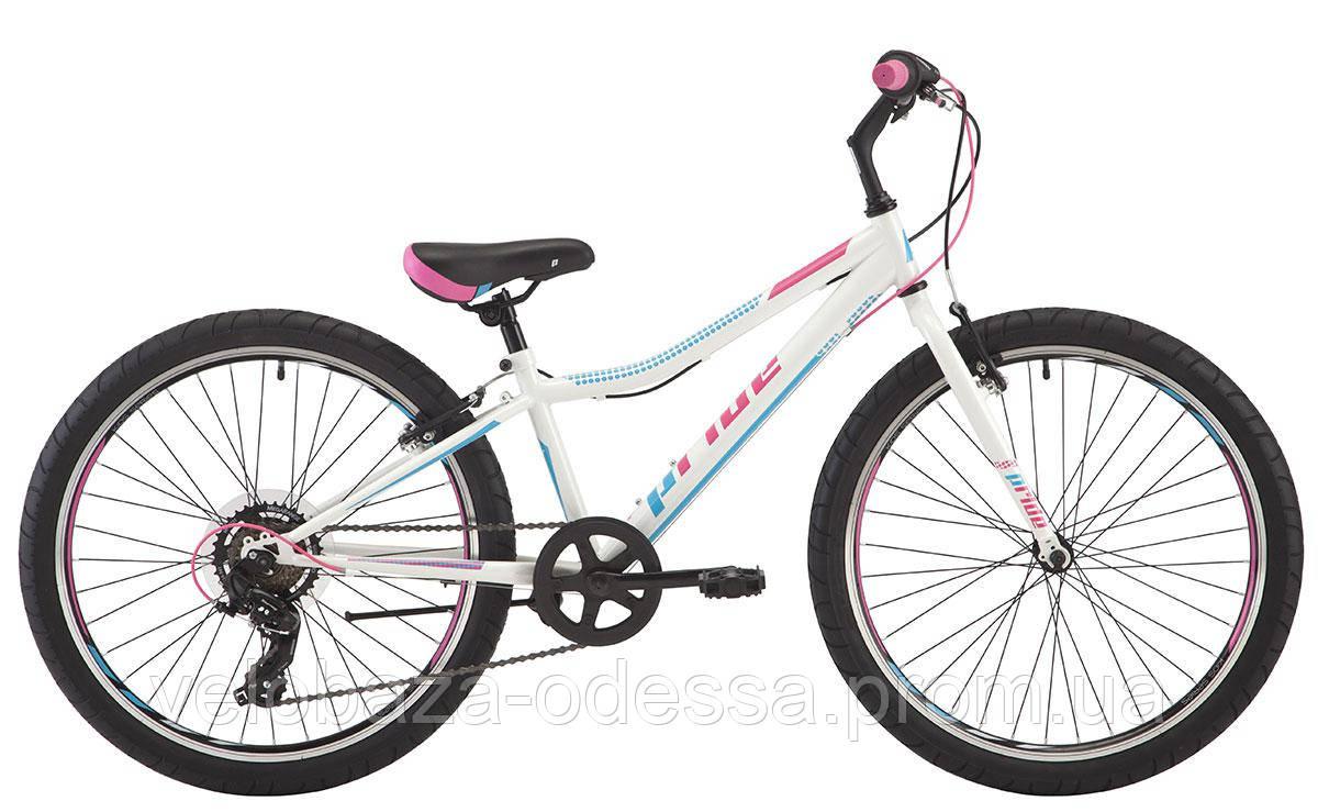 """Велосипед 24"""" Pride Lanny 7 белый/бирюзовый/малиновый 2018"""