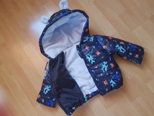 Куртка Ушки Морские обитатели с капюшоном на флисе р-ры 74 80 86 92