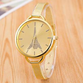 Часы женские Geneva Эйфелева башня золотистые 106-1