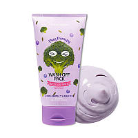Маска для проблемной кожи с брокколи Etude House Play Therapy Purple Spot Zero! Wash Off Pack