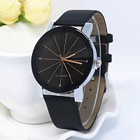 Часы наручные женские QUARTZ черные (бол.) 56-01