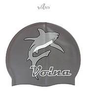 Силиконовая шапочка для плавания Volna Shark-2