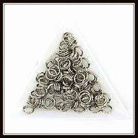 Соединительные колечки двойные d 7 мм h 0,7 мм сталь (500 грамм)