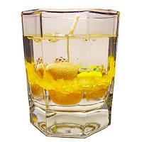 Гелевая свеча в граненном стакане - Желтая