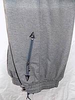 Штаны мужские спортивные весна-осень (трикотаж) прямые (размеры M-3XL) (цвет серый) оптом