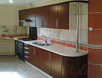 Кухня с крашеными матовыми фасадами №14