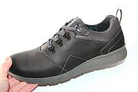 Мужские туфли спорт, кожа натуральная, черные, Л967