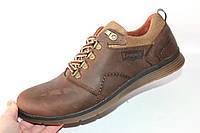 Мужские туфли спорт, кожа натуральная, коричневый, Л967
