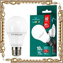 Лампочка світлодіодна TITANUM A60 10W E27 4100K 220V, біле світло (TL-A60-10274)