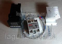 Терморегулятор REX C100 с твердотельным реле 40 Ампер и радиатором