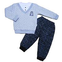 Костюм для мальчика 68-92(6-24м) кофта обманка+штаны, арт.5024