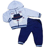 Костюм для мальчика 80-98(1-3 года) кофта на молнии+штаны, арт.580