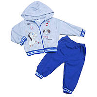 Костюм для мальчика 80-98(1-3года) кофта на молнии+штаны, арт.581