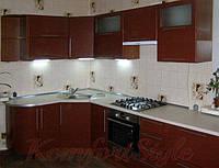 Кухня с крашеными матовыми фасадами №16