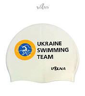 Силиконовая шапочка для плавания Volna Club 2 (White)