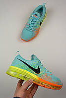 "Женские кроссовки Nike Air Flyknit Max 2014 ""Blue/Orange/Yellow"""