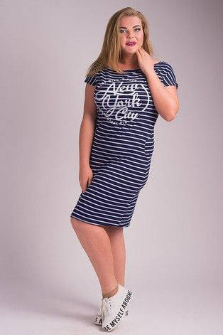 Платье-тельняшка большие размеры, фото 2
