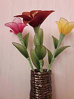 Искусственные цветы в вазе для интерьера , прекрасный подарок женщине на 8 Марта, фото 1