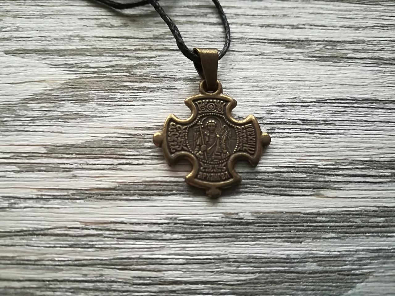 Михаил Именной Нательный Крест Православный Мужской Медненный размер 30*22 мм