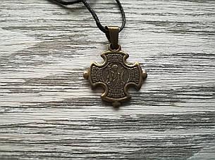 Михаил Именной Нательный Крест Православный Мужской Медненный размер 30*22 мм, фото 2