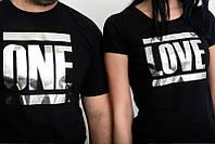 Парные футболки One/ Love