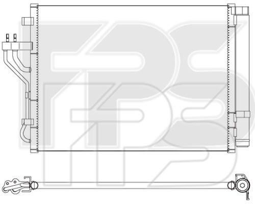 Радиатор кондиционера Hyundai ix35 2.0 CRDi (10-15) , Kia Sportage 2.0 CRDi (10-15) - Чехия