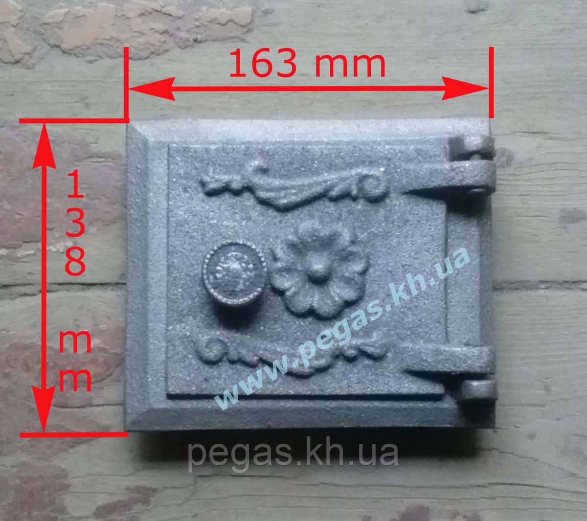 Дверка прочистная сажетруска чугунная (110х130 мм)