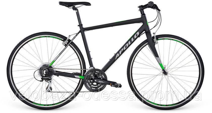 "Велосипед 28"" Apollo Exceed 20 рама - L Matte Black/Matte Silver/Matte Green 2017, фото 2"