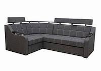 Угловой диван Garnitur.plus Элегант 3 темно-серый 235 см
