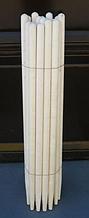 Черенок на грабли диаметр 30 мм 1,5м (осина)