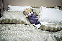 Двуспальный евро комплект постельного белья «Горохи»