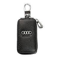 Ключница Carss с логотипом AUDI 01004 черная