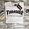 Thrasher Футболка женская | Оригинальные фото бирки | Белый трешер