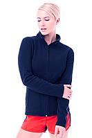 Женская флисовая кофта синяя