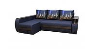 Угловой диван Garnitur.plus Граф темно-синий 245 см