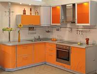 Кухня с пластиковыми фасадами №21