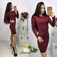Красивое приталенное женское платье