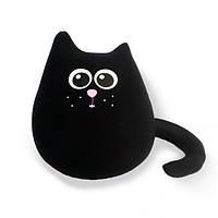 Мягкая игрушка-антистресс Кот-Уголек, черный